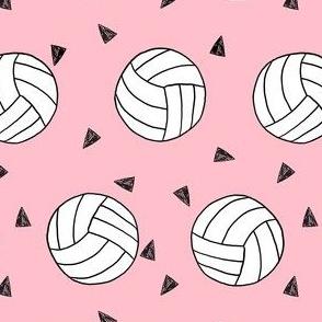 volleyball fabric - sports fabric, beach volleyball, volleyballs, sport, sports fabric -  pink