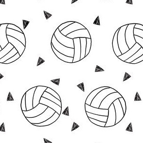 volleyball fabric - sports fabric, beach volleyball, volleyballs, sport, sports fabric -  white