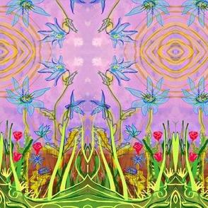 Garden Party grn/purp/b;ue-ed