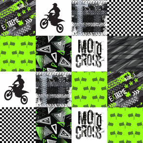 Grunge Motorcross Modified - Wholecloth Quilt - Cheater Quilt - Moto2