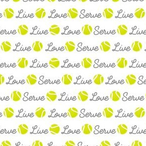 Live Love Serve Tennis Ball
