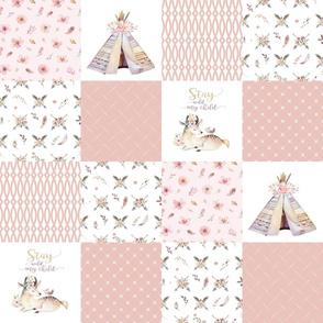 Woodland Boho - Wholecloth Quilt - Cheater Quilt - Boho1