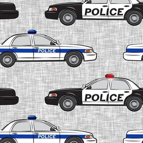 (jumbo scale) Police Car fabric - LAD19BS