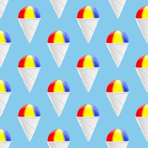 snowcones on light blue OG stacked  - summer icecream - LAD19