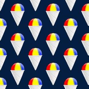 snowcones on navy OG stacked  - summer icecream - LAD19