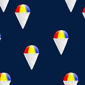 snowcones on navy OG - summer icecream - LAD19