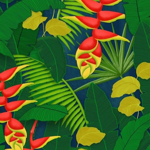 Tropical Rainforest - Heliconia