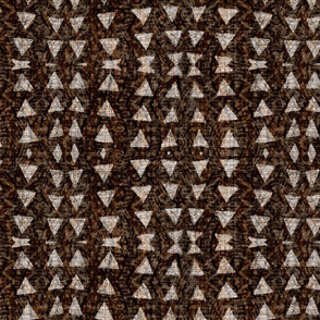 mudcloth-umber triangles