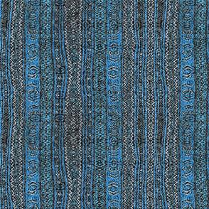 cyan blue boho stripe