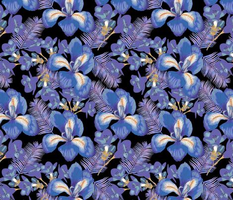 moody iris fabric by fvo_design on Spoonflower - custom fabric