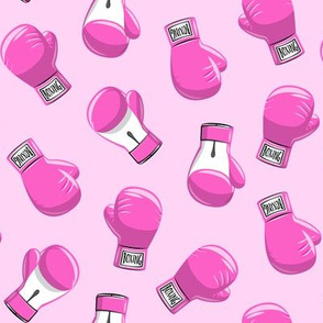 boxing gloves  - pink on pink- LAD19