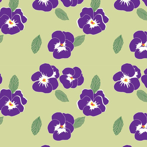 Pansies Purple1500