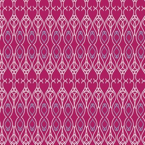 Deep Pink Ornamental Lines