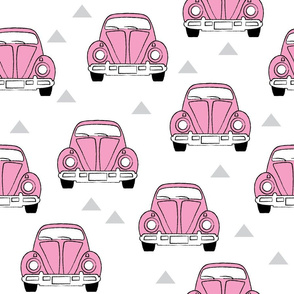 large pink cars