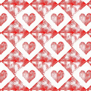 corrugated heart prints