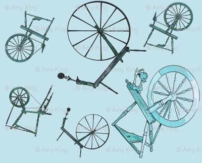 Wheel Jumble in Teal