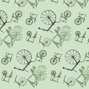 Wheel Jumble in Green