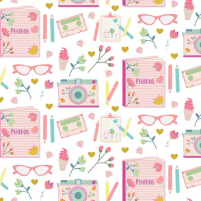 seamless pattern with everyday objects
