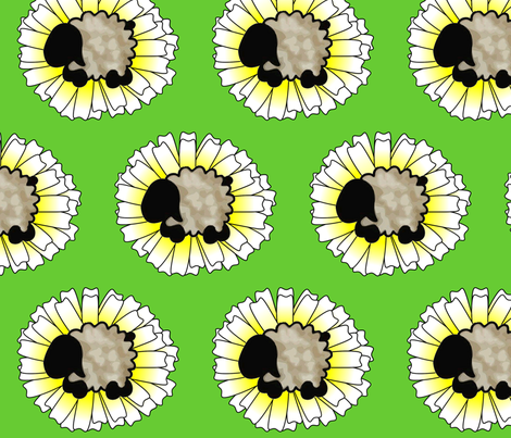 Daisy and Sheep fabric by spunky_eclectic on Spoonflower - custom fabric