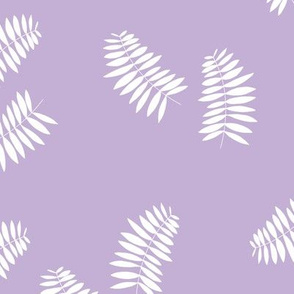 Palm leaves abstract minimal botanical summer garden white lilac