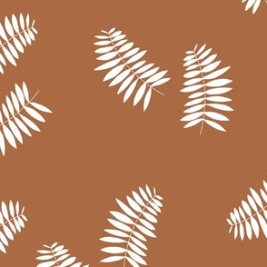 Palm leaves abstract minimal botanical summer garden white copper brown