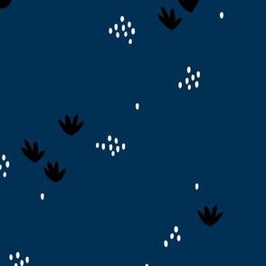 Sweet minimal coral under water design summer minimal design paper cut blue navy