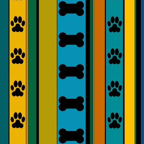Dog-Themed Stripes1-Large Scale