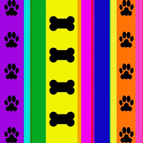 Dog-Themed Stripes2-Large Scale