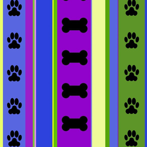 Dog-Themed Stripes3-Large Scale