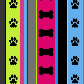 Dog-Themed Stripes5-Large Scale
