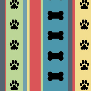Dog-Themed Stripes6-Large Scale