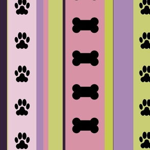 Dog-Themed Stripes7-Large Scale