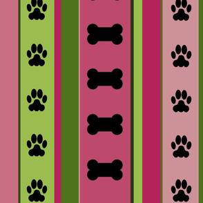 Dog-Themed Stripes8-Large Scale