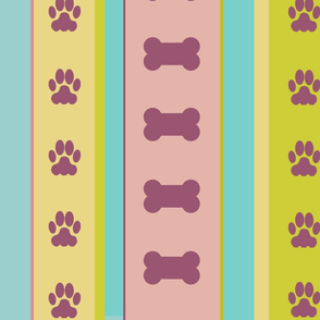Dog-themed Stripes9-Large Scale