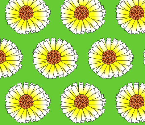 Spring Daisy fabric by spunky_eclectic on Spoonflower - custom fabric