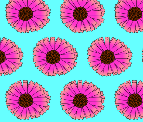 Coneflower fabric by spunky_eclectic on Spoonflower - custom fabric