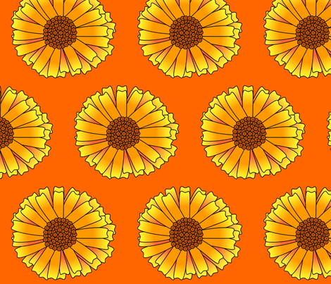 Calendula fabric by spunky_eclectic on Spoonflower - custom fabric
