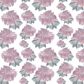 Mauve Flower Gray