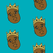 big poppa fabric - notorious big fabric, rap, hip hop, artist - blue