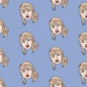 tswift fabric - tswift, taylor, singer, songwriter, music, musician - blue