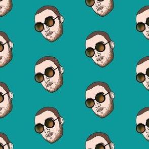 mac miller fabric - rap, hip hop, artist, american singer, songwriter - blue