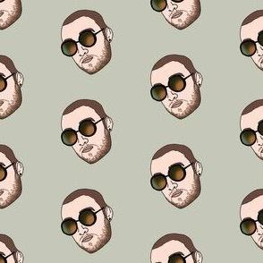 mac miller fabric - rap, hip hop, artist, american singer, songwriter -  tan