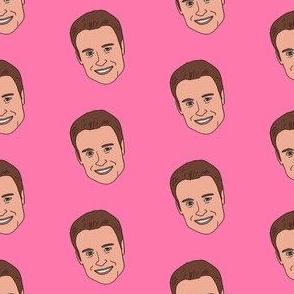 chris harrison - bachelor fabric, bachelor tv, tv show, tv presenter -  pink