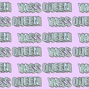 yass queen fabric - yass queen, yass, broad city, words, 2019, meme, text - large lilac