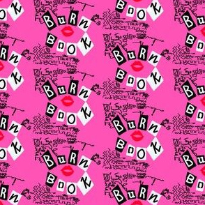 on wednesdays book - pink