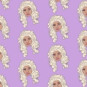 nicki - platinum blonde, wig, singer, rapper, artist, woman, female - purple
