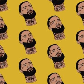 nipsey - west coast rapper, artist, music, la, los angeles - yellow