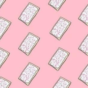 pop tart - food, strawberry, sprinkles, breakfast - pink