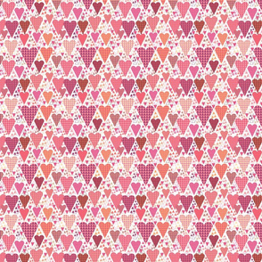 Hearts and Triangles, Small, White