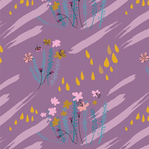 Dreamy Abstract Floral Pattern